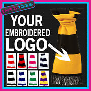 X100 Personalised Embroidered Logo Scarf Scarves Football Rugby Sports Team