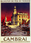 6210.decoration Du Nord Cambrai Travel Poster.room Wall Art Decorative.