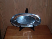 Poole Sliver Company Oval Serving Platter Or Tray