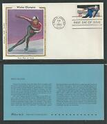 1795-1798 Winter Olympics Colorano Silk Cachet, 1980 First Day Covers