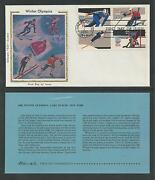 1795-98 Winter Olympics Lake Placid, Colorano Silk Cachet 1980 First Day Cover