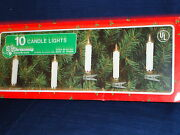 Set Of 10 Candle Tree Lights From Christmas Around The World W/box