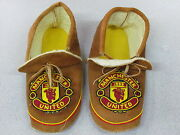 Manchester United Native American Beaded Home Tanned Moose Hide Moccasins 10inch