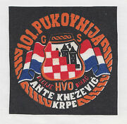 Croatia Army - Hvo - 101 Regiment Ante Knezevic - Krpe , Extremely Rare Patch