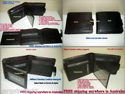 Milleni Mens Biflod Genuine Leather Wallet/note Id Card Coin Pocket Holder Boxed