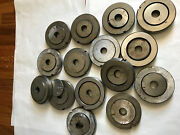 Lot 15 Sets Wilson Thick Turret Round Punch Die 2.765 And Up 53.2813.375sd