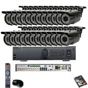 24ch Hd-tvi Hdmi Dvr 2.6mp 1080p Support 4 In 1 Security Camera System 5tb Hdd