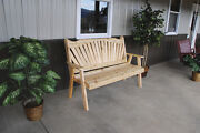 Classic Outdoor Cedar 5 Foot Fanback Garden Bench 8 Stain Colors Made In Usa