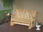 Outdoor Cedar 4 Ft Royal English Porch Glider 8 Stain Colors Made In Usa