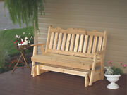 Outdoor Cedar 6 Ft Royal English Porch Glider 8 Stain Colors Made In Usa