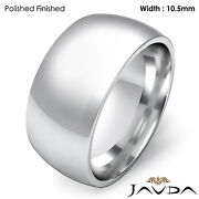 Women Wedding Band 10.5mm Dome Comfort Fit Platinum 950 Ring 20gm Size 5-5.75