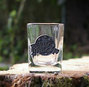 Planet Hollywood Clear Shot Glass With Silver Tone Metal Logo
