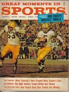 1962 Great Moments In Sport Magazine Football Paul Hornung Green Bay Packers Gd