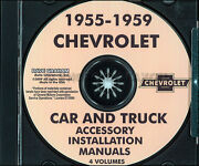 Chevrolet Accessory Installation Manual Cd 1955 1957 1958 1959 Chevy Car Truck