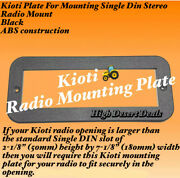 Kioti Plate For Mounting Single Din Stereo Radio Mount Black - Same Day Shipping