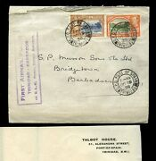 Trinidad To Barbados First Airmail Flight 1938 By Klm...talbot House...yuilles