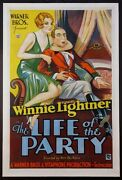 The Life Of The Party Winnie Lightner Pre-code Comedy 1930 1-sheet