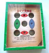 Vintage The Divers Puzzle London United Kingdom Journet And Co. England W/4 Balls