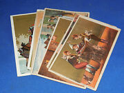 Wonderful Lot Of 8 Sewing Machine Victorian Trade Cards Singer
