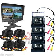 4 X Rear View Camera + 7 4ch Monitor Truck Tractor Reversing Security System
