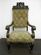 Antique Hand Carved Arm Chair