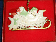 Lenox Penguins In A Sleigh Christmas Ornament We Make A Great Team