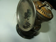 Antique/vintage Autolite Carbide Mining Light For Helmet W/reflector And Ignitor