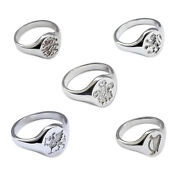 925 Sterling Silver Crest Signet Rings 14x12mm English Scottish Welsh Hm Solid