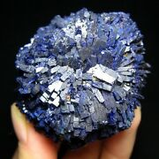 Huge Azurite Flower Fine Cubic Crystas Mined At Yangchun China E1874
