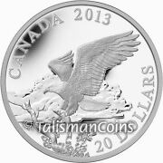 Canada 2013 Bald Eagle Returning From The Hunt 20 1 Oz Pure Silver Proof In Ogp