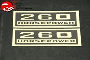 Chevy 260 Horsepower Black And Gold Valve Cover Decals Pair
