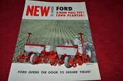 Ford Tractor Series 311 4-row Pull Type Corn Planter Dealer's Brochure Lcpa