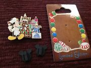 Disney Limited Edition Gingerbread Tree Pin, Tree Made By Chef Barns, Signed