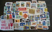 70 Used Stickers-air Mail-special Delivery-tb-social Action-religious