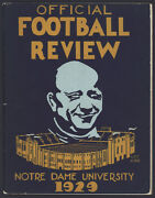1929 Official Notre Dame Football Review/yearbook. Second National Championship.