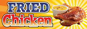 2ft X 6ft Fried Chicken Vinyl Banner 2and039x6and039 -alt To Banner Flag 189
