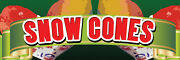 2ft X 6ft Snow Cones Gyb Vinyl Banner 2and039x6and039 -alt To Banner Flag 178