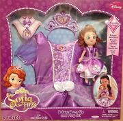 Disney Pricess Sofia The First 6 Pc Delux Dress Up Costume Play Set Size 4-6