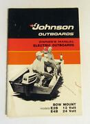 Owners Operators Manual 1976 Johnson Electric Trolling Outboard Motor 12 And 24 V