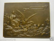 Rare 1910 Buenos Aires Bronze Plaque / R. Roberson /angel Assisting The Queen