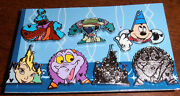 Wdw Complete Set Of Park Icons With Disney Characters - 2013 Hidden Mickey Pins