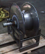 Hannay Stainless Steel Hose Reel 50and039 Capacity Of 2 Hose Hand Wind