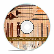 Vintage Wood And Woodworking Books Carpentry Wood Finishing Carving Dvd V10