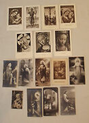 Collection 16 Vintage Holy Cards Sepia Toned Holland Ettal Free Mylar Envelopes