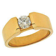 0.77ctw Channel Set Round Diamond Menand039s Ring / Wedding Band In 14k Yellow Gold