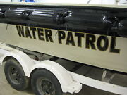 2 Custom Boat Name Vinyl Lettering Decal Sticker + Shadow Color 8 X 66