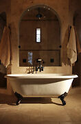 Double Ended Cast Iron Bath + Deck Taps And Waste/trap Kit 1829mm 72 Long