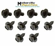 Gm Hood To Hinge Body Front End Hardware Bolt Bolts El Head Flat End Nos 10 Pc
