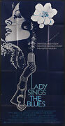 Lady Sings The Blues 1972 Huge 3 Sheet Film Poster Diana Ross As Billie Holiday