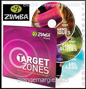 Official Zumba Fitness Target Zones 3 Dvd Workout Collection Abs Cardio Arms
